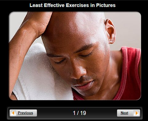 Exercise & Fitness Pictures Slideshow: 9 Least Effective Exercises