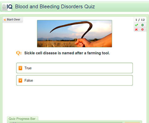 Blood and Bleeding Disorders Quiz