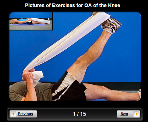 Osteoarthritis Pictures Slideshow: Exercises for OA of the Knee