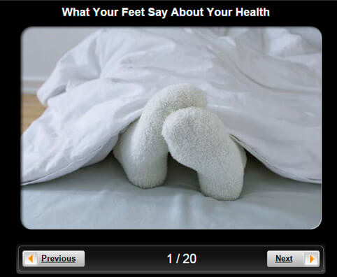 Foot Health Pictures Slideshow: What Your Feet Say About Your Health