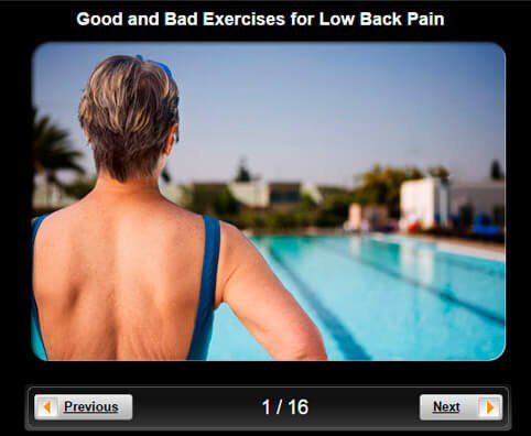 Low Back Pain Pictures Slideshow: Good and Bad Exercises for Low Back Pain