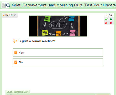 Grief, Bereavement, and Mourning Quiz: Test Your Understanding