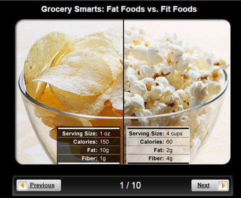 Grocery Smarts Pictures Slideshow: Fat Foods vs. Fit Foods