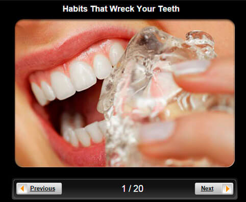 Dental Health Pictures Slideshow: 19 Habits That Wreck Your Teeth