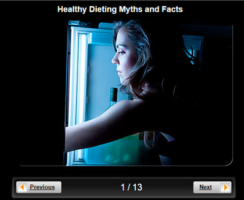 Diet and Weight Loss Pictures Slideshow: Healthy Dieting Myths and Facts