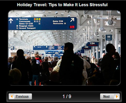 Holiday Travel Pictures Slideshow: 7 Tips to Make It Less Stressful