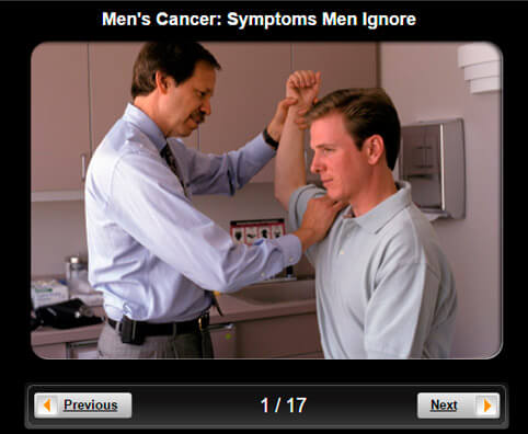 Men's Cancer Pictures Slideshow: 15 Symptoms Men Ignore