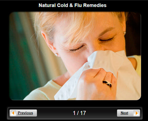 Natural Cold & Flu Remedies Pictures Slideshow