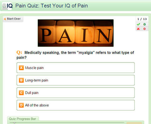 Pain Quiz: Test Your IQ of Pain