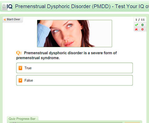 Premenstrual Dysphoric Disorder Quiz:  Test Your PMDD IQ
