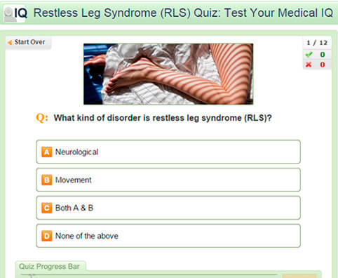 Restless Leg Syndrome (RLS) Quiz: Test Your Medical IQ
