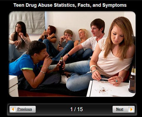 Teen Drug Abuse Pictures Slideshow: Statistics, Facts and Symptoms