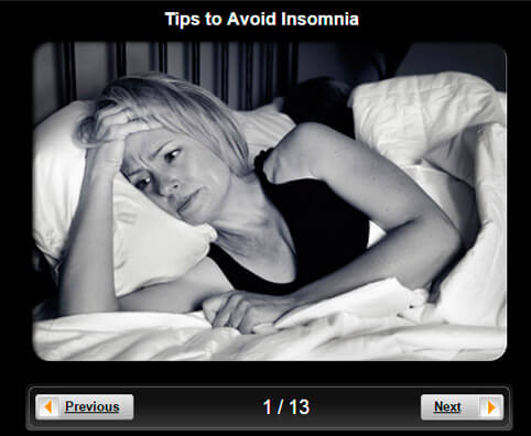 Insomnia Pictures Slideshow: 10 Tips to Avoid Insomnia