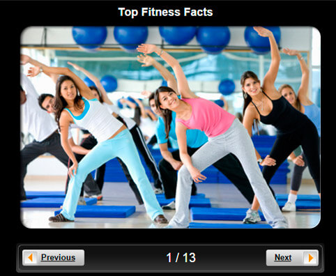 Exercise and Fitness Pictures Slideshow: Top 10 Fitness Facts
