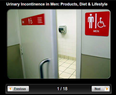Urinary Incontinence in Men Pictures Slideshow: Products, Diet, & Lifestyle