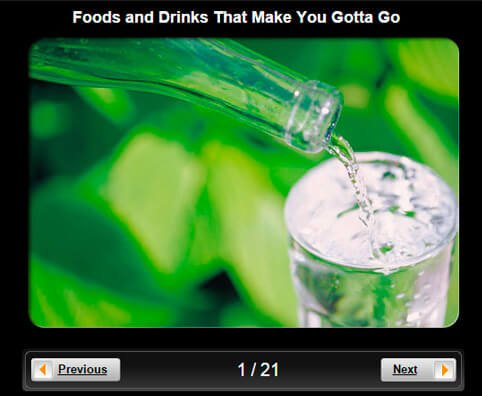 Urinary Incontinence Pictures Slideshow: Foods and Drinks That Make You Gotta Go