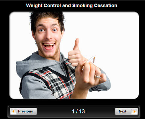 Weight Control and Smoking Cessation Pictures Slideshow