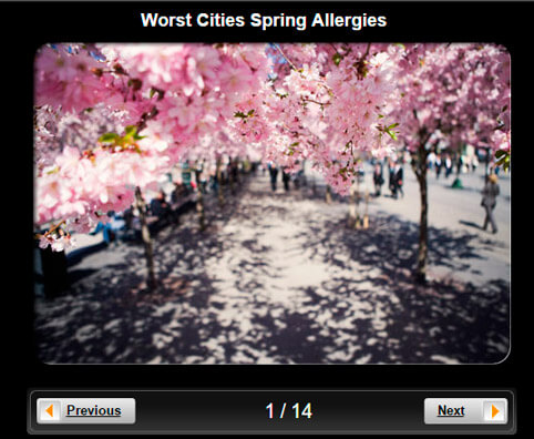 Allergy Pictures Slideshow: 10 Worst Cities for Spring Allergies
