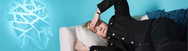 Picture: A woman suffering a severe headache could be a sign of stroke.