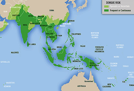 Picture of dengue fever distribution map