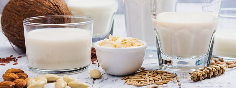 Picture of milk, grains, soy, and wheat (gluten).