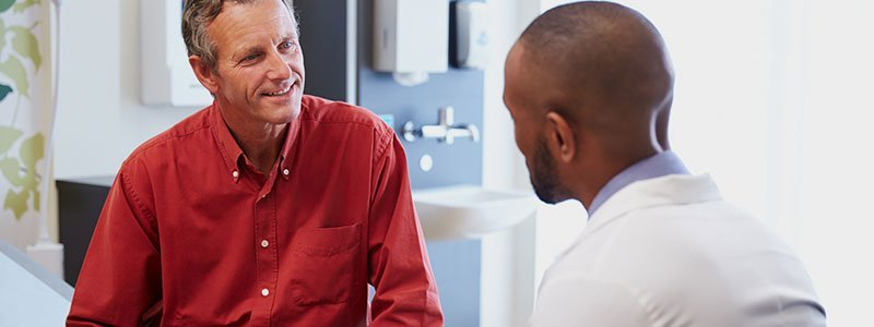 A doctor discusses a patient's low testosterone condition.