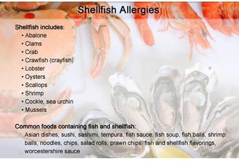 See pictures of the most common food allergy triggers for Fish allergy symptoms