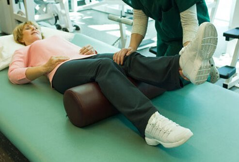 Photo of woman in physical therapy.