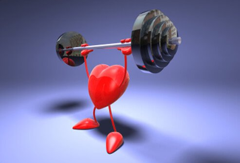 A heart pumps iron.