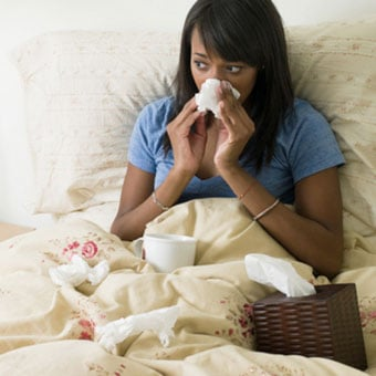 Alt TextA runny nose is a typical symptom of a common cold.