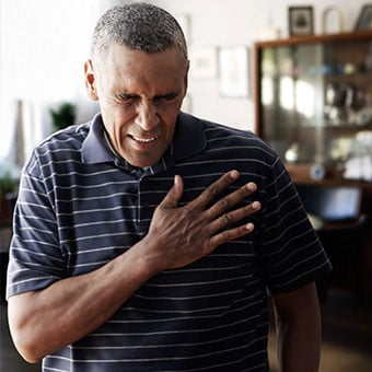 Angina or chest pain is a symptom of congestive heart failure.