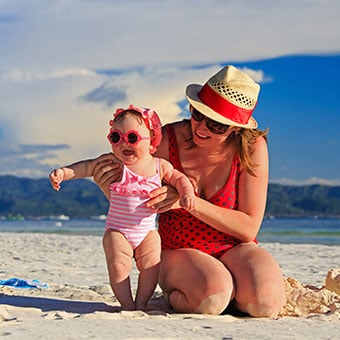 Heat rash can affect both children and adults manifesting as red bumps on the skin.