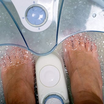 Home remedies for ingrown toenails can include foot baths.