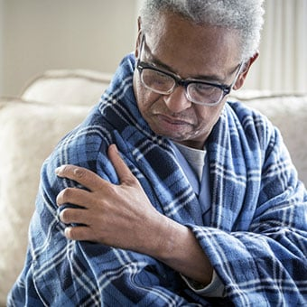 Complications from the shingles virus may include pain.