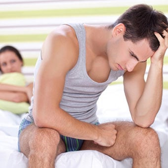 An unhappy couple deals with erectile dysfunction (ED).