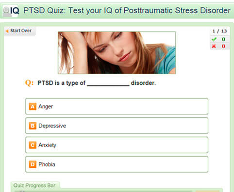 PTSD Quiz: Test Your IQ of Posttraumatic Stress Disorder