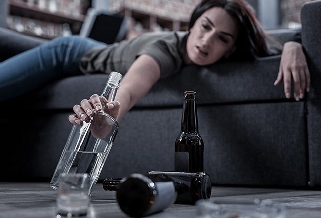 Alcohol abuse puts someone at risk for depression.