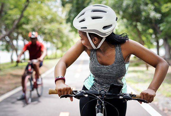 Biking is a great low-impact form of exercise.