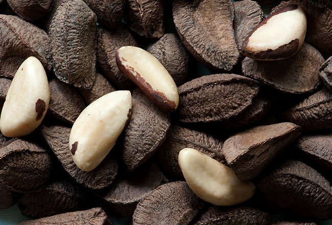 Brazil nuts are native to areas around the Amazon in the regions of Brazil