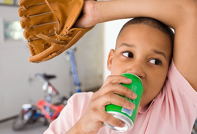 Diarrhea causes the body to lose fluids, leading to dehydration. Sugary drinks, such as Sprite, may not be high up on the list of recommended fluids in case of diarrhea. If you don't have any other options but to drink Sprite, it may be a good idea to add some water to it and let the bubbles fizz out before drinking it.