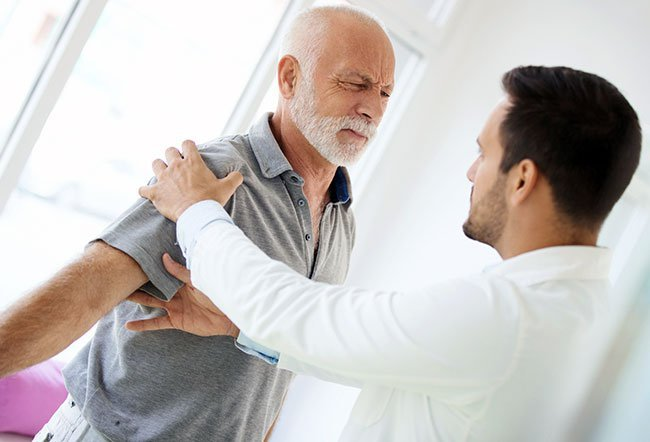 Shoulder arthritis causes pain in the joint and sounds while using the shoulder joint.