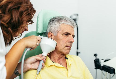 Picture showing earwax removal.