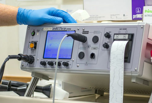 In electroshock therapy, doctors use this machine to run a precise amount of electrical current through a patient's brain, inducing a seizure that inexplicably improves some severe mental health conditions.