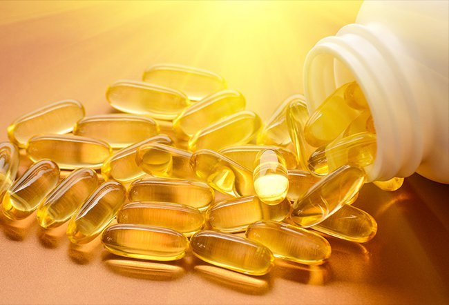 Fish oil is a good source of omega-3 fatty acids, which play an essential role in your brain's functions. There have been studies that show omega-3 fatty acids may help treat depression in some people.