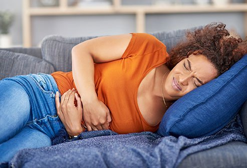 Food poisoning commonly causes stomach cramps.