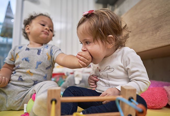 When your child bites at daycare, it may cause you lots of worry and embarrassment. Stop your child from biting in daycare by telling them it's not okay, encouraging them to express themselves with their words, giving them enough attention and time, making sure your child is not being picked on and using other strategies.