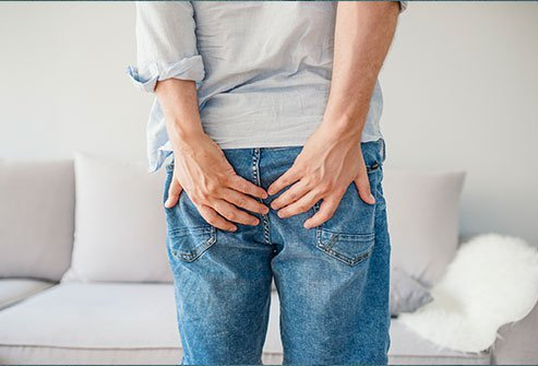 Rectal prolapse is a condition where the end part of your rectum (the large bowel) slides out of place and may come out from your anus. 25% to 50% of the people that get this condition report experiencing constipation.