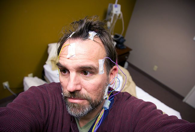 Polysomnography (PSG) is the study of sleep patterns and the body's response to the various stages of the sleep cycle.