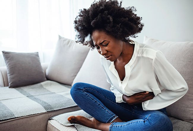 IBS (irritable bowel syndrome) is a disorder of the digestive tract that causes symptoms such as abdominal pain, bowel habit changes, excess gas, bloating (abdominal distention), abdominal cramping, and food intolerances. IBS flare-ups can last 2 to 4 days.