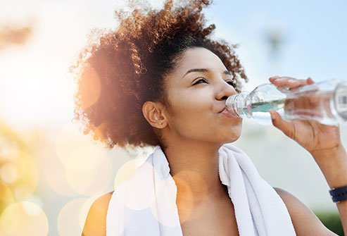 The average person needs about nine to 12.5 cups of water per day. Other hydration is provided by the water contained in other foods and beverage. Physical activity and other factors can increase the requirement.